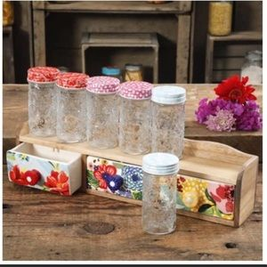 The Pioneer Woman Floral Melody  Spice Shelf Set